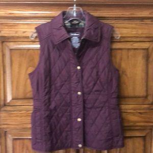 LL Bean Martin/wine vest XS Reg